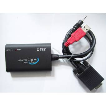 Bộ chuyển đổi VGA + Audio to HDMI Z-TEK ZE577