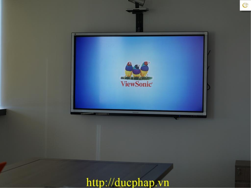 Cung cấp và lắp đặt màn hình tương tác thông minh Viewsonic cho Công Ty du lịch tại Quận 1